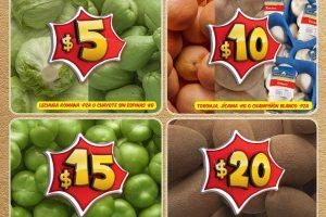 Frutas y Verduras Bodega Aurrera Tiánguis de Mamá Lucha del 3 al 9 de Febrero