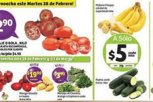 Frutas y Verduras Soriana 28 de Febrero y 1 de Marzo 2017