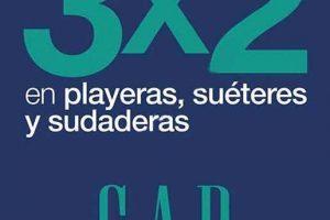 Gap 3x2 en playeras, sudaderas y suéteres 3 de febrero
