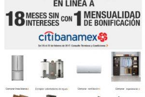 The Home Depot 18 meses sin intereses y 1 mes de bonificación con Citibanamex