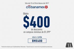 Martí $400 de descuento pagando con Citibanamex