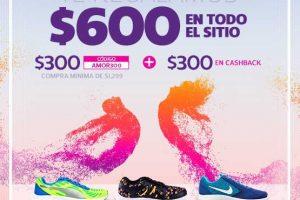 Promoción de San Valentín Netshoes $600 de Regalo en todo el sitio