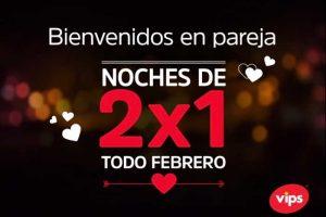 Promoción de San Valentín Vips 2x1 en hamburguesas, cervezas, limonadas y más
