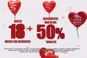 Sanborns: Venta de San Valentín Amor y la Amistad del 10 al 14 de Febrero