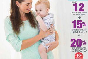 Sears 15% de descuento y 12 meses sin intereses en bebés y maternidad