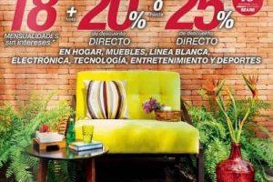 Sears 25% de descuento en hogar, muebles, línea blanca, electrónica, tecnología, entretenimiento y deportes
