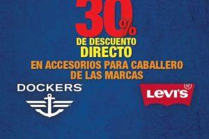 Sears 30% de descuento en accesorios para caballero Levi's y Docker's