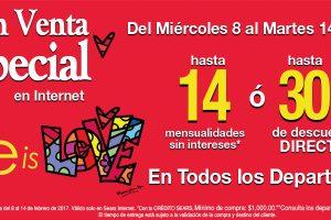 3269c1fd9 Sears  Venta Especial Por Internet del 8 al 14 de Febrero