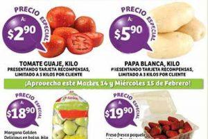Frutas y Verduras Soriana 14 y 15 de febrero 2017