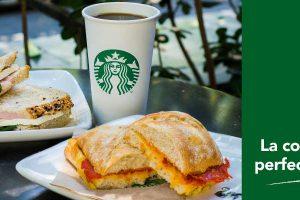 Starbucks: cupón café del día + panini o sandwich por $75