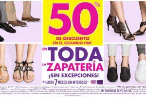 Suburbia zapatos 50% de descuento en segundo par del 16 al 20 de febrero