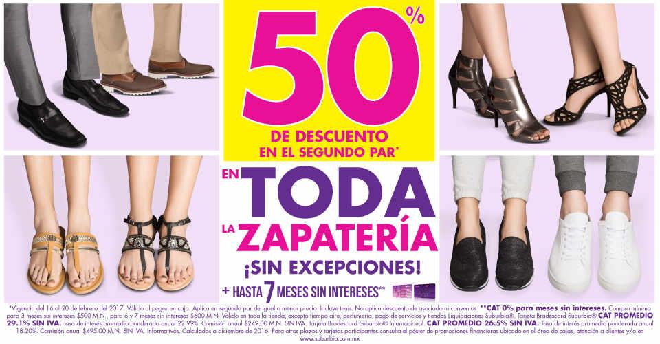 6467c17161081 ... zapatería para toda la familia  Suburbia zapatos 50% de descuento en  segundo par del 16 al 20 de febrero