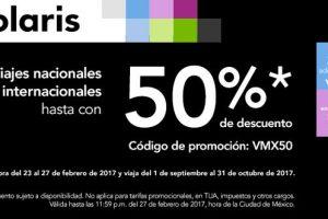 Volaris Hasta 50% de descuento en vuelos nacionales e internacionales