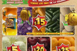 Bodega Aurrera frutas y verduras tiánguis de mamá lucha del 10 al 16 de marzo