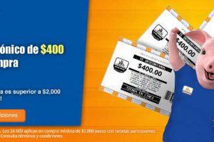 Chedraui cupón de $400 por cada $2,000 de compra en Tienda online