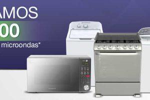 Comercial Mexicana y Mega $200 de descuento en línea blanca y hornos de microondas