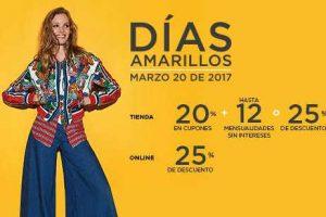 Días Amarillos El Palacio de Hierro 20 de Marzo 2017