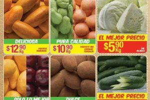 Frutas y Verduras Bodega Aurrera Tiánguis de Mamá Lucha del 31 de marzo al 6 de abril