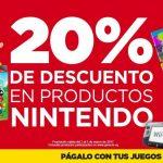 Gamers 20% de descuento en productos nintendo del 2 al 5 de marzo