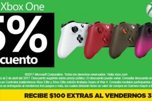 Gamers 25% de descuento en controles Xbox One al 2 de abril 2017