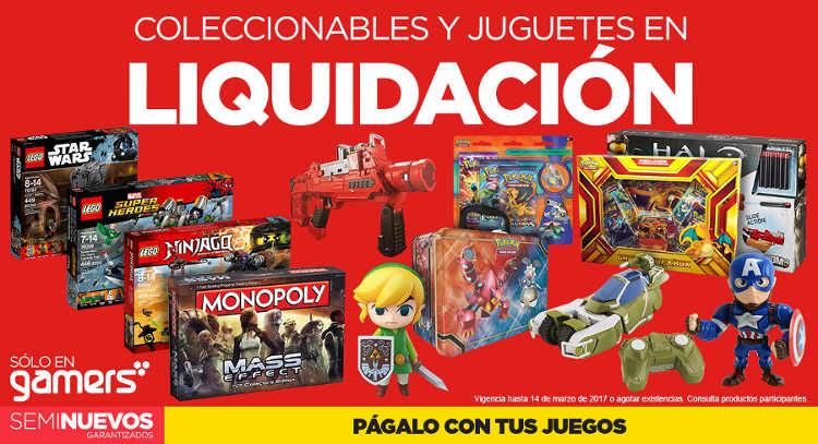 Gamers: liquidación en juguetes y coleccionables de videojuegos