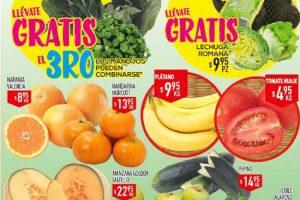 Frutas y verduras HEB del 7 al 9 de Marzo 2017