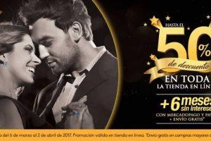 Promociones de aniversario Bizzarro 50% de descuento y 9 meses sin intereses