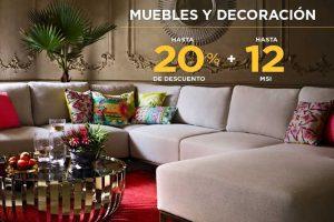 El Palacio de Hierro hasta 20% de descuento en muebles y decoración