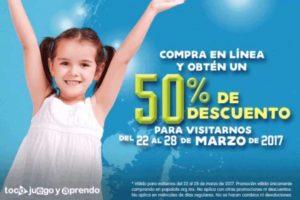 Papalote Museo Del Niño 50% de descuento por internet del 22 al 28 de marzo
