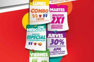 Promo Semana Cinemex Descuentos, 2×1 y precio especial