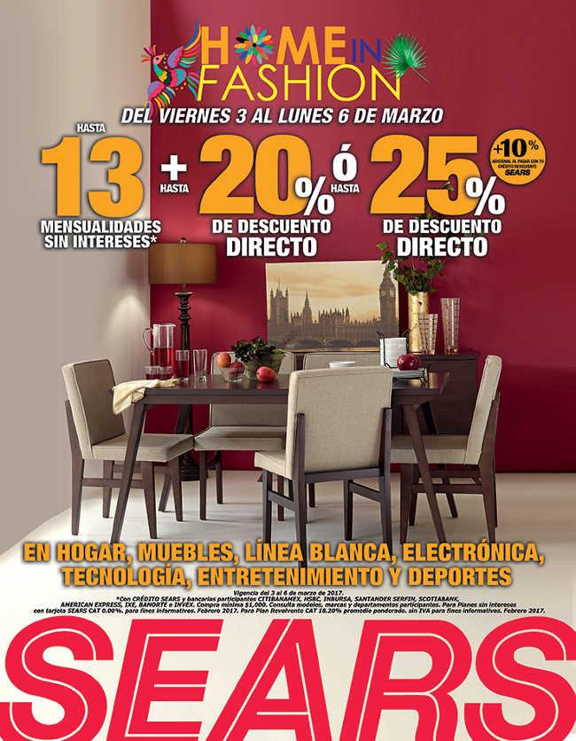 Sears: hasta 25% de descuento en muebles, electrónica y hogar