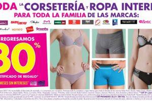 Suburbia 30% de bonificación en corsetería y ropa interior del 3 al 13 de Marzo