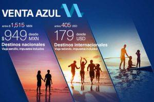 Venta Azul Aeroméxico del 22 al 26 de marzo 2017