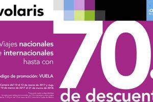 Volaris Promociones de Aniversario 70% de descuento en Vuelos Nacionales e Internacionales