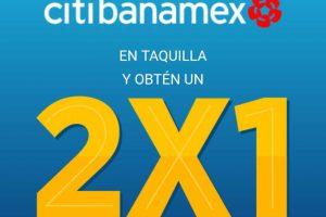 2x1 en Cinépolis pagando con Citibanamex del 24 de abril al 25 de mayo 2017