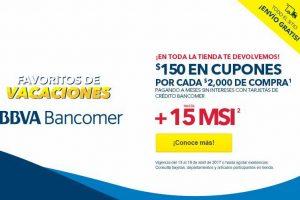 Best Buy $150 en cupones por cada $2,000 y 15 MSI con Bancomer