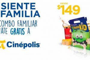 Cinépolis Combo Familiar desde $149 Gratis Tarjeta Club Cinépolis