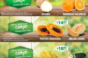 Comercial Mexicana frutas y verduras del campo 25 y 26 de abril