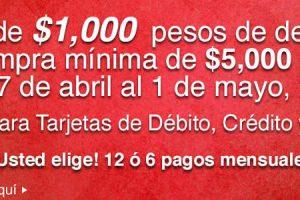 Costco cupón de $1000 pesos de descuento al 1 de mayo 2017