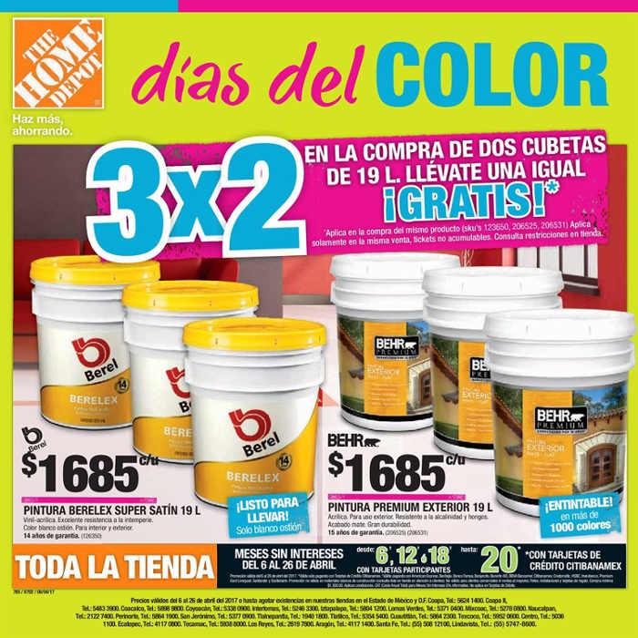 Folleto Home Depot D As Del Color Del 6 Al 26 De Abril 2017
