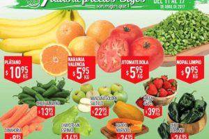 Frutas y verduras HEB del 11 al 13 de Abril 2017