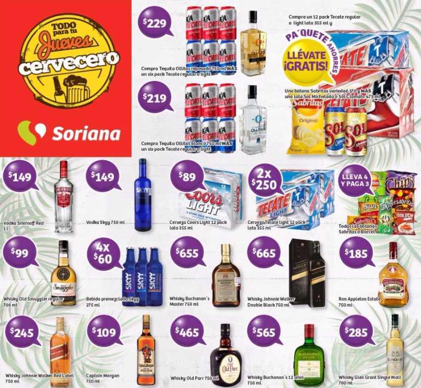 Promociones De Jueves Cervecero Soriana 13 De Abril De 2017