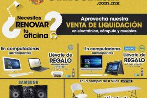 Office Max Venta de liquidación en electrónica, computo al 30 de abril
