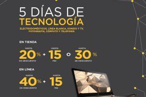 Palacio de Hierro 5 días de tecnología del 27 de abril al 1 de mayo