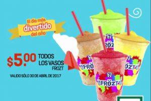 Promoción 7-Eleven Día del Niño Frözt a $5 el 30 de abril