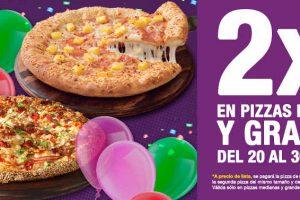Promoción Benedetti's Pizza Día del Niño 2×1 en pizzas al 30 de Abril