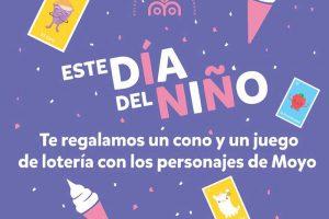 Promoción Moyo Frozen Día del Niño Gratis Cono y Juego de Lotería 30 de Abril