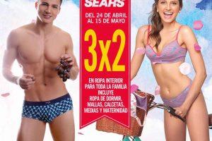 Sears 3×2 en ropa interior del 24 de Abril al 15 de Mayo 2017