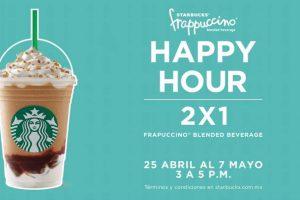 Happy Hour Starbucks 2×1 en frappuccinos del 25 de abril al 7 de mayo