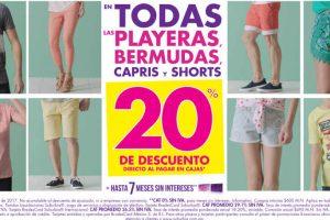 Suburbia 20% de descuento Bermudas, Capris, Playeras y Shorts del 5 al 10 de Abril